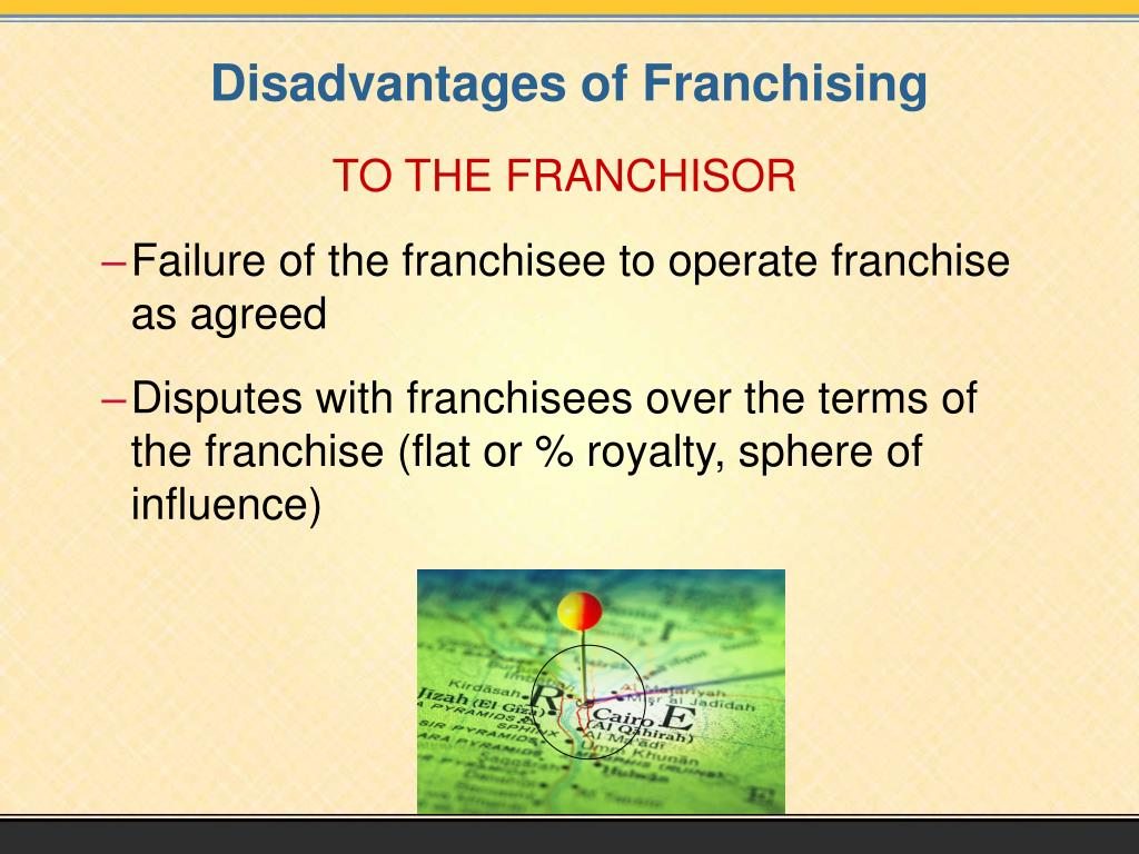 TO THE FRANCHISOR