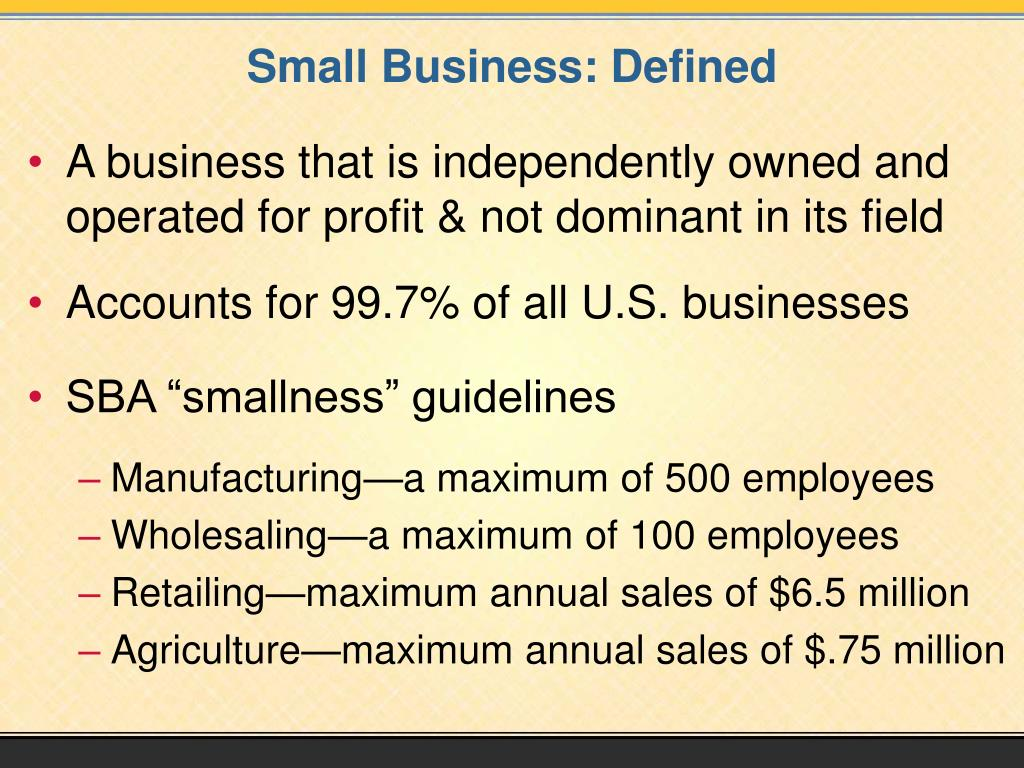 Small Business: Defined