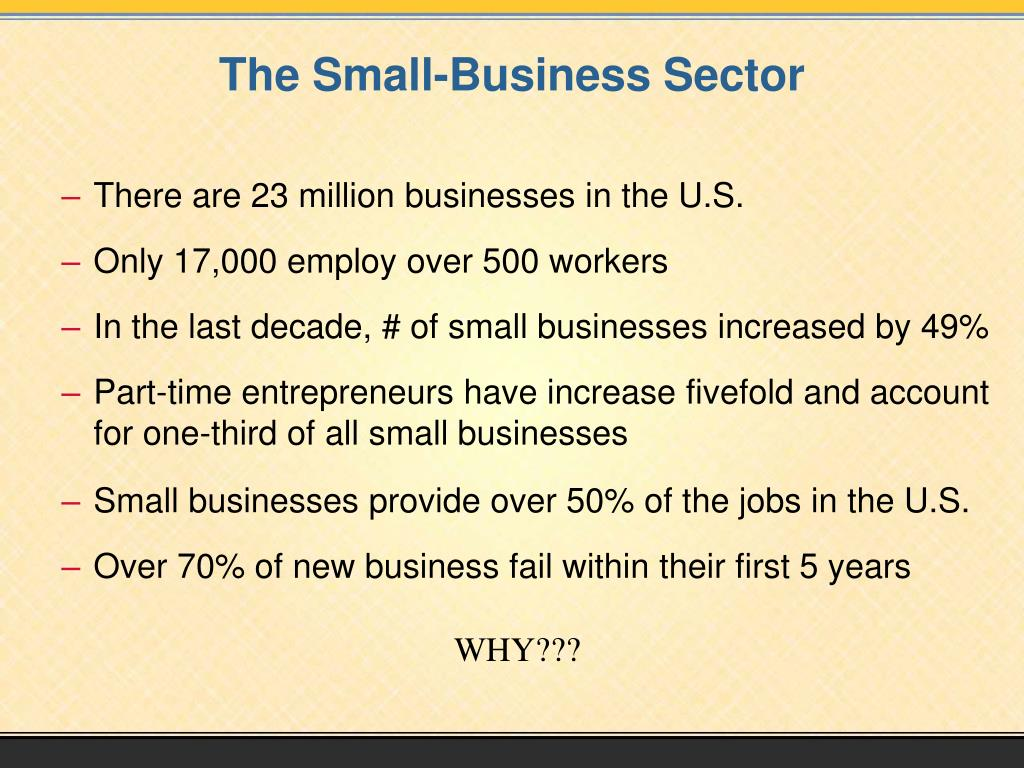 The Small-Business Sector