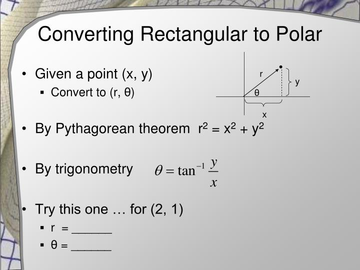 Converting Rectangular to Polar