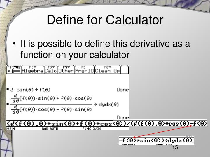 Define for Calculator