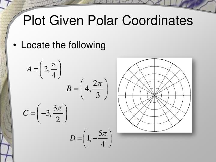Plot given polar coordinates