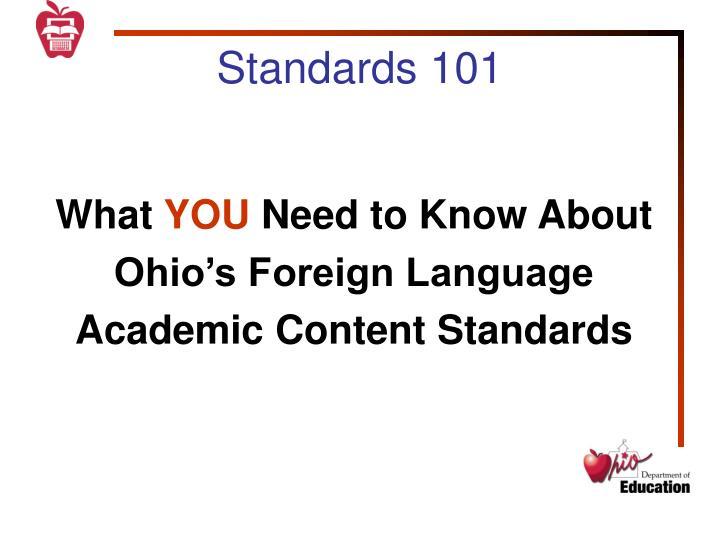 Standards 101
