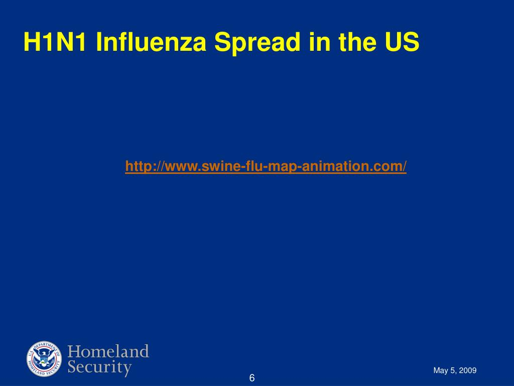 H1N1 Influenza Spread in the US