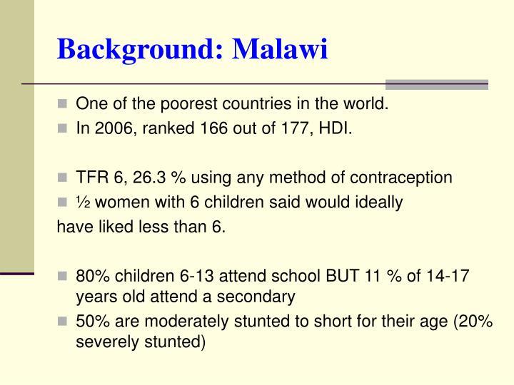Background: Malawi