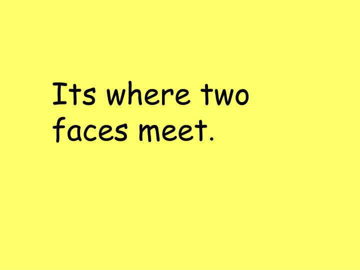Its where two faces meet