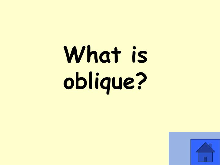 What is oblique?