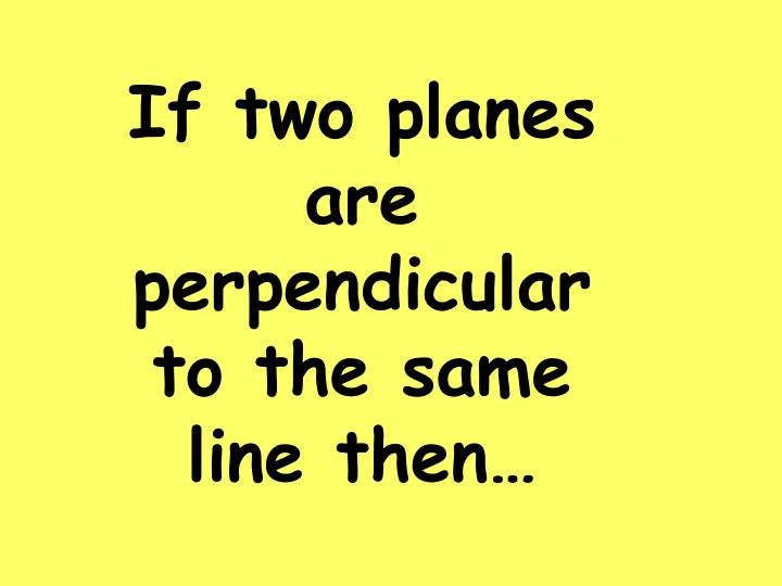 If two planes are perpendicular to the same line then…