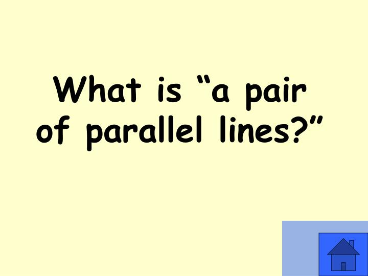 "What is ""a pair of parallel lines?"""