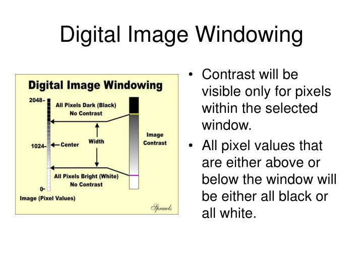 Digital Image Windowing