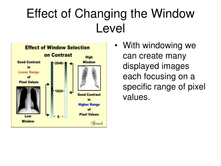 Effect of Changing the Window Level