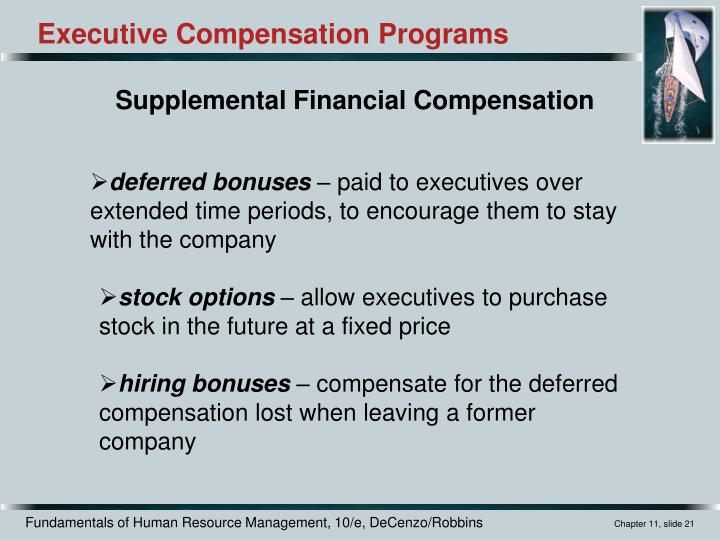Executive Compensation Programs