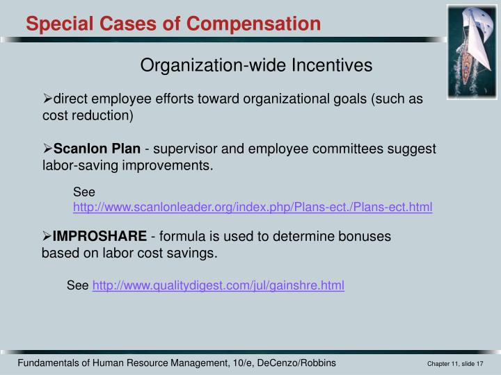 Special Cases of Compensation