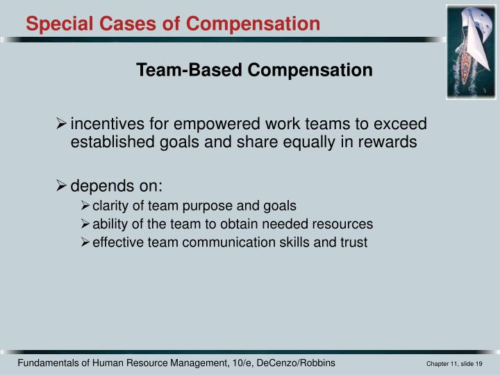 incentives for empowered work teams to exceed established goals and share equally in rewards