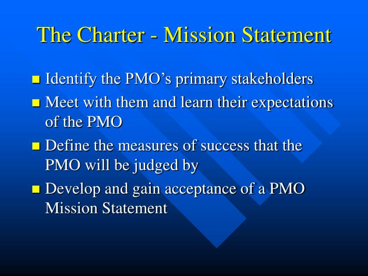How to develop a PMO charter
