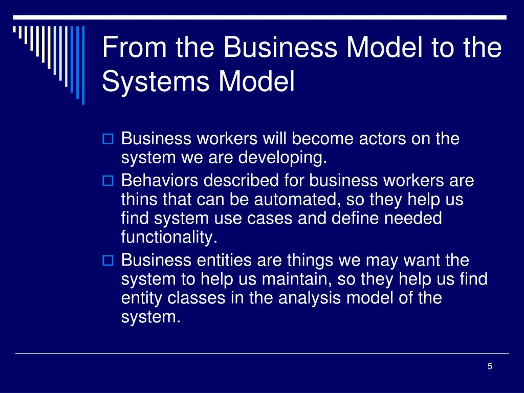 From the Business Model to the Systems Model