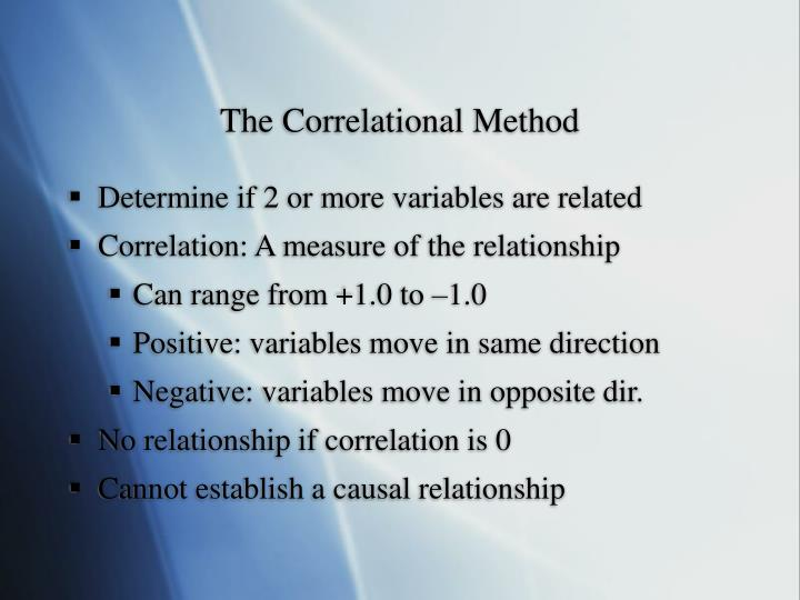 experimental and correlational research methods