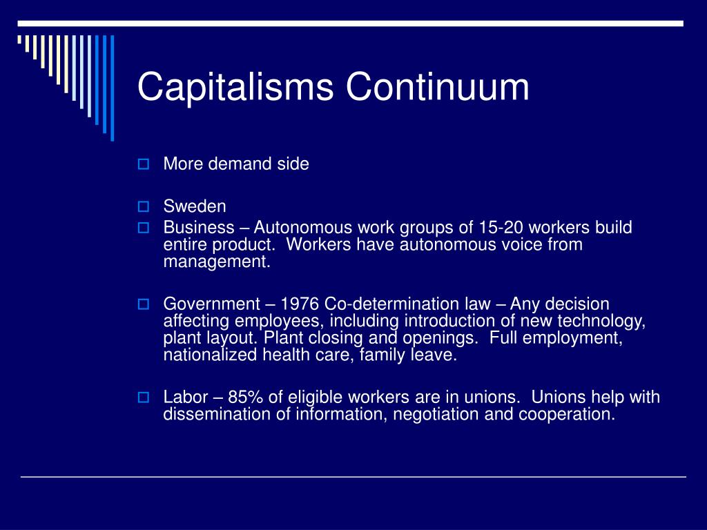 Capitalisms Continuum