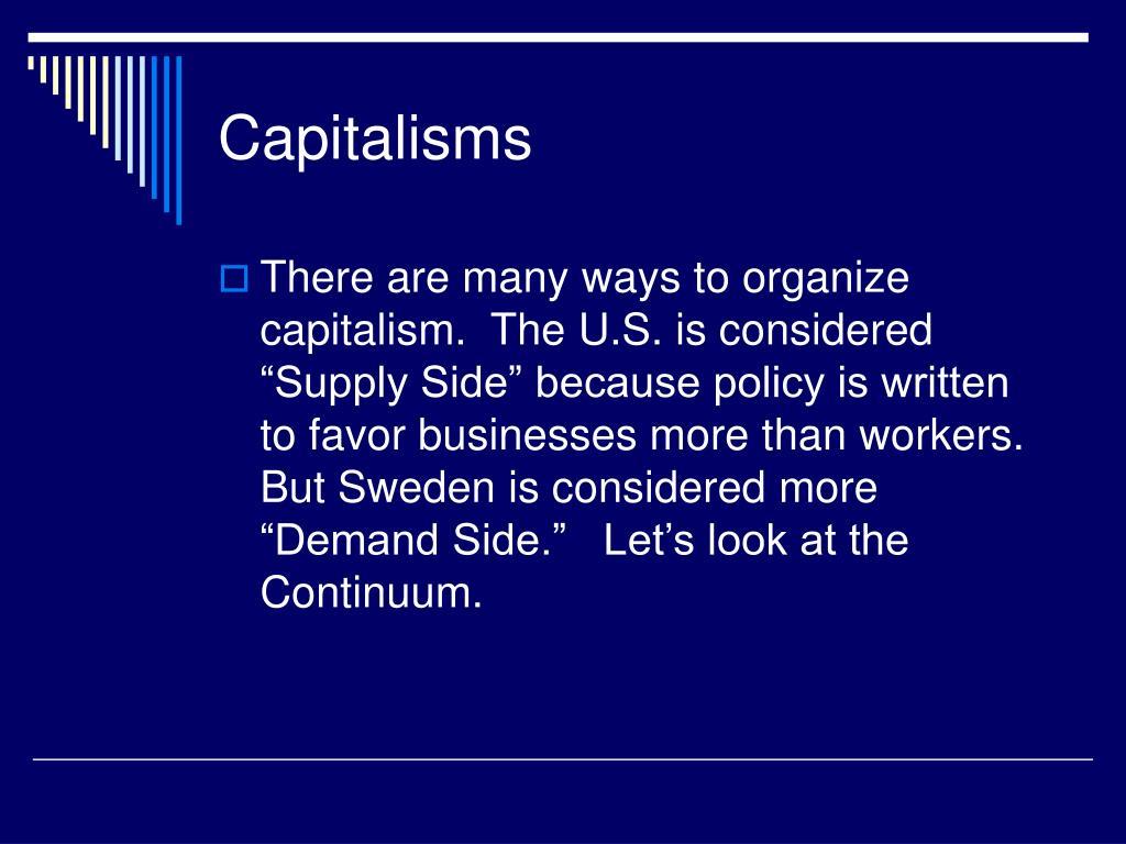Capitalisms