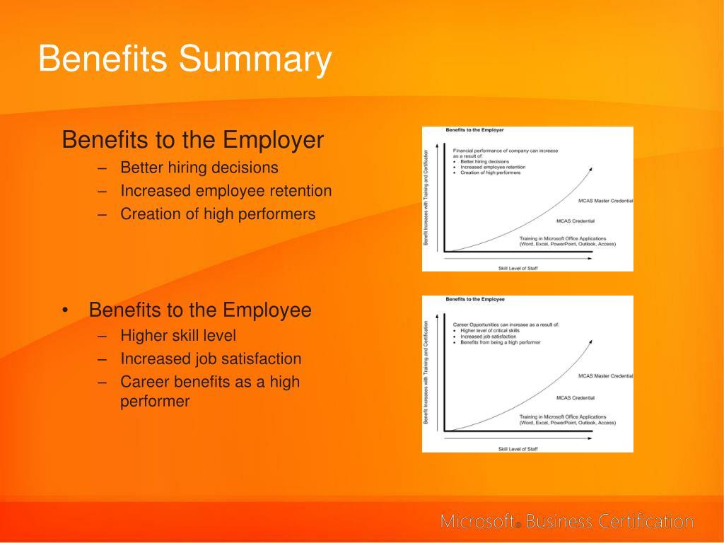 Benefits Summary