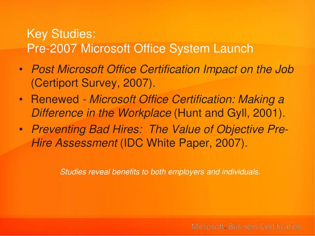 Key Studies: