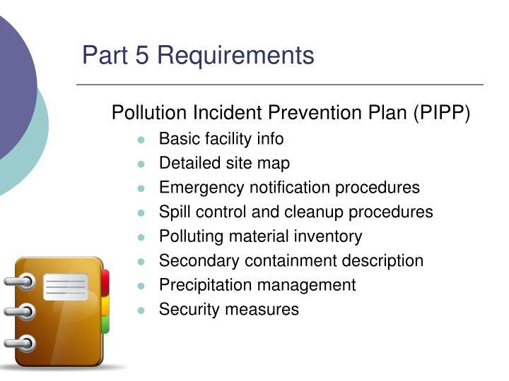 Part 5 Requirements