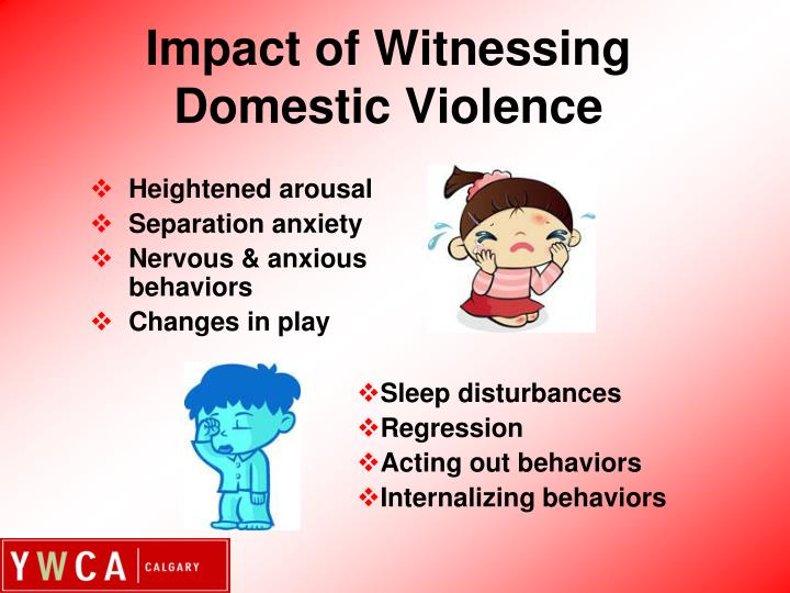 Impact of witnessing domestic violence