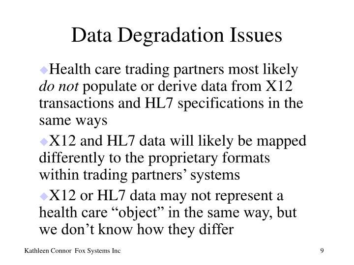 Data Degradation Issues