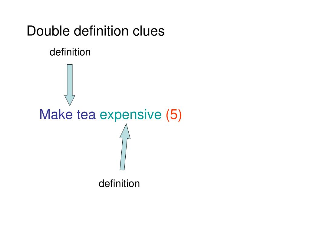 Double definition clues