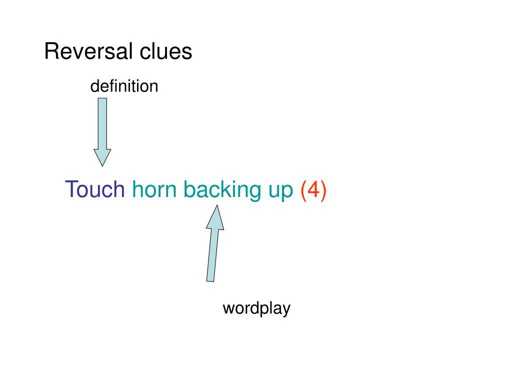 Reversal clues