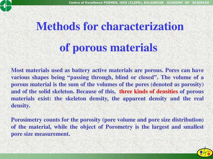 Methods for characterization
