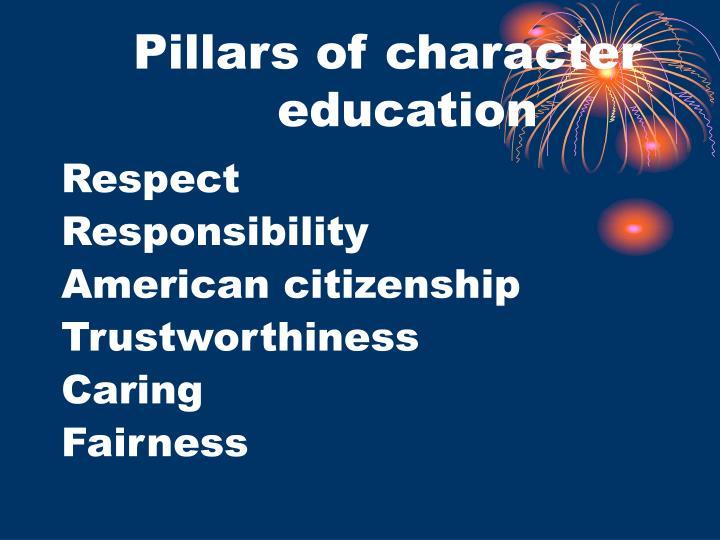 Pillars of character education