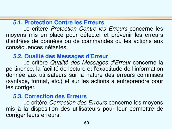 5.1. Protection Contre les Erreurs