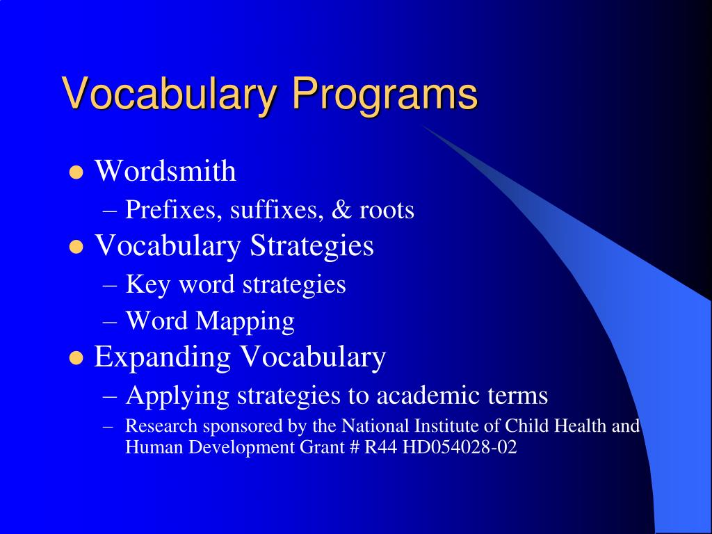 Vocabulary Programs