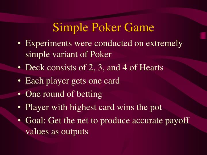 Simple Poker Game
