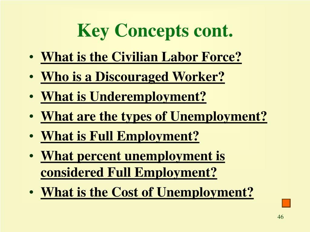 Key Concepts cont.