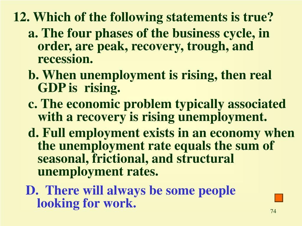 12. Which of the following statements is true?