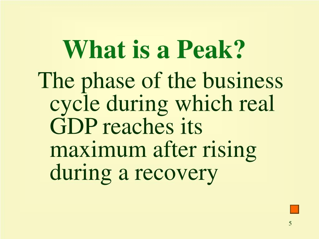What is a Peak?