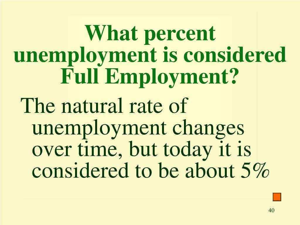 What percent unemployment is considered Full Employment?