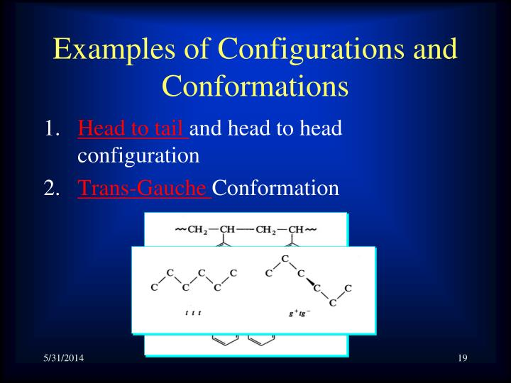 Examples of Configurations and Conformations