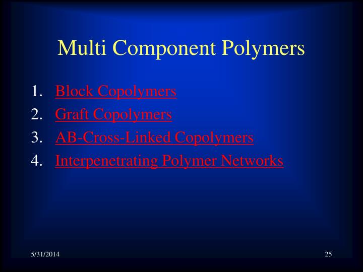 Multi Component Polymers