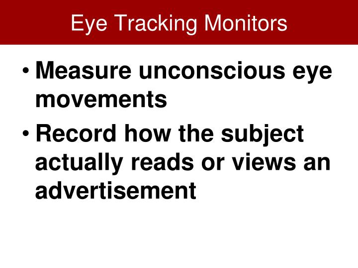 Eye Tracking Monitors