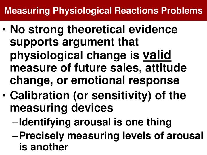 Measuring Physiological Reactions Problems