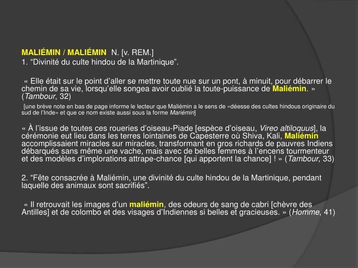 MALIÉMIN / MALIÉMIN