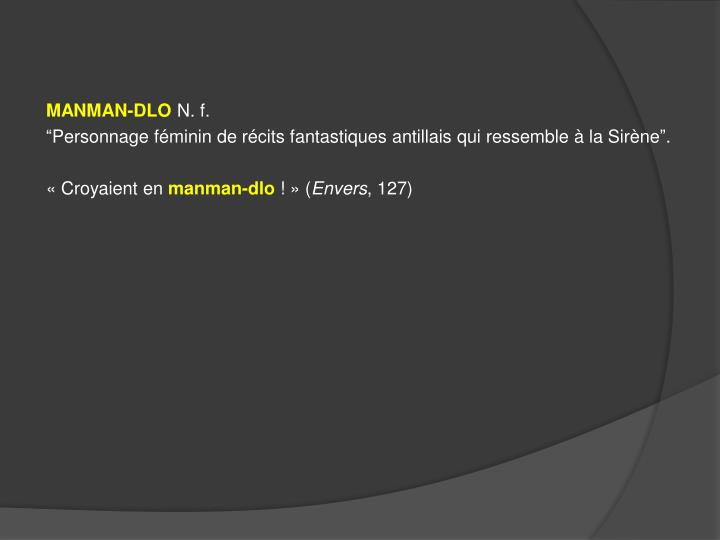 MANMAN-DLO