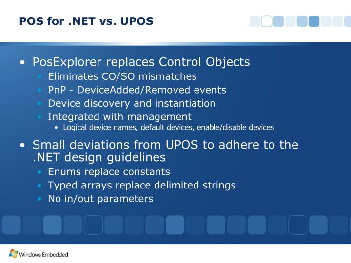 POS for .NET vs. UPOS