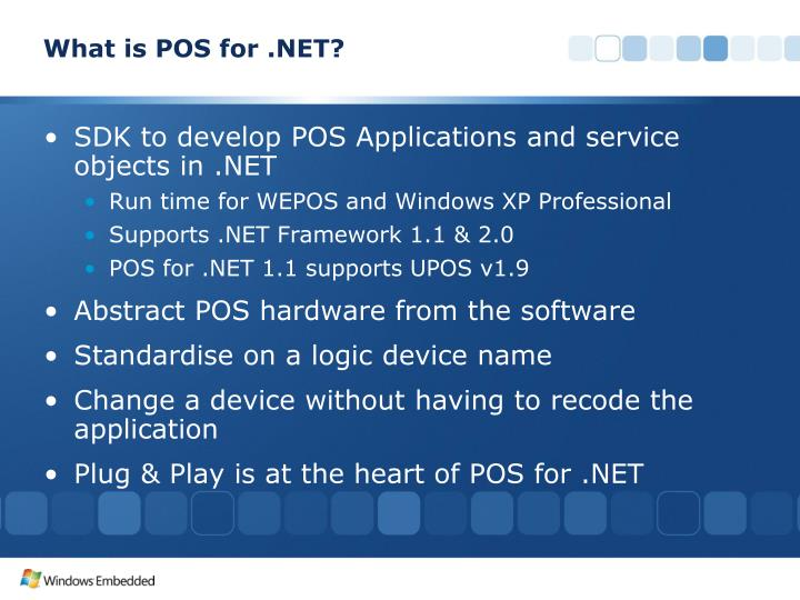 What is POS for .NET?