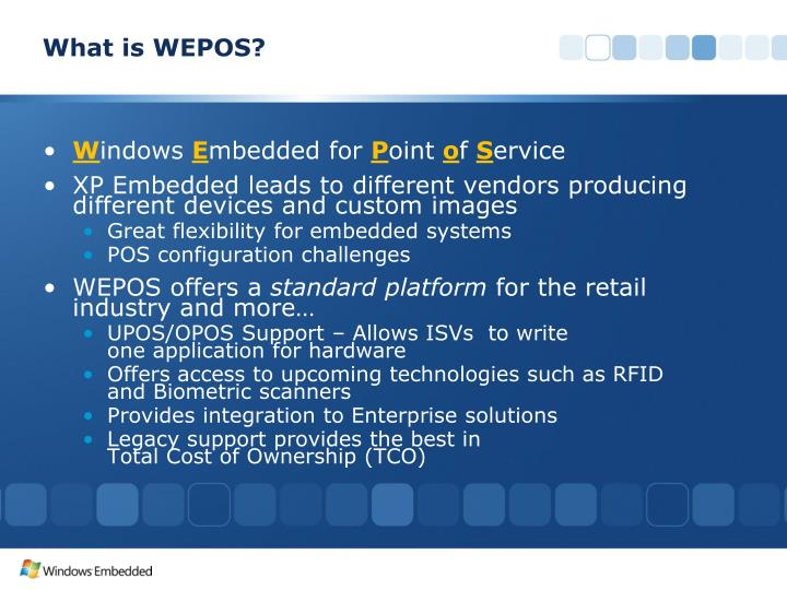 What is WEPOS?