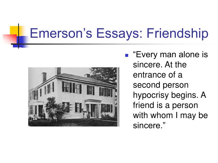 Emerson's Essays: Friendship