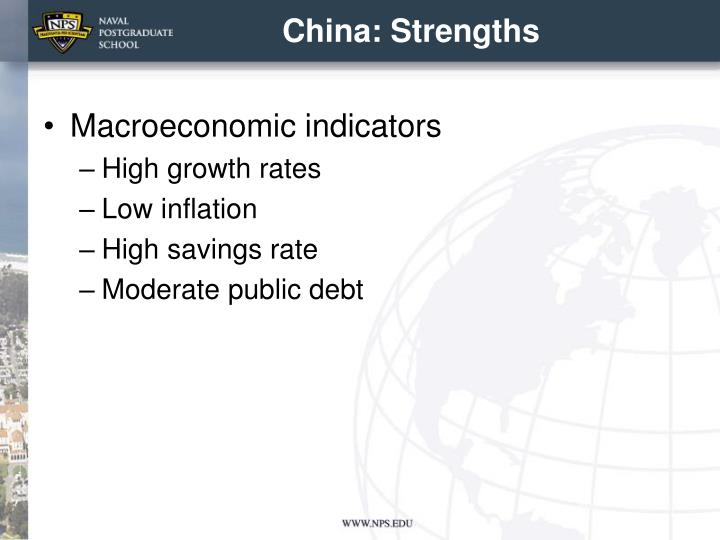 China: Strengths
